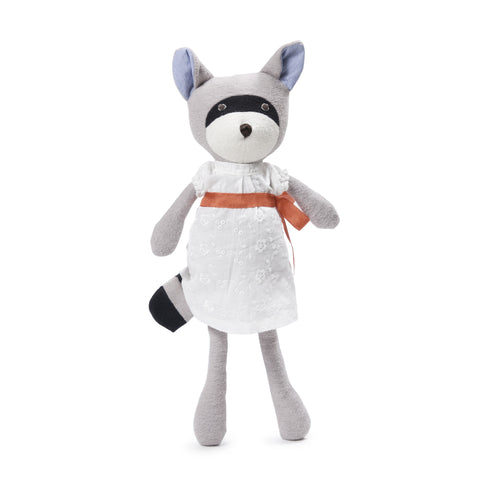 Hazel Village - Gwendolyn Raccoon - White Dress and Sash