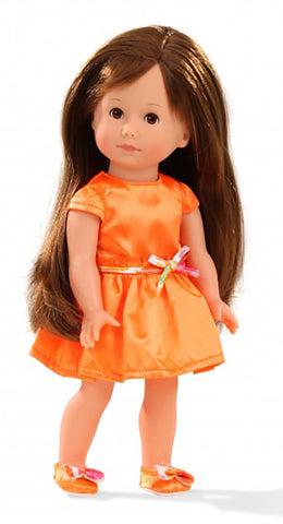 Gotz - Giuseppina Doll with Orange Dress (27cm)