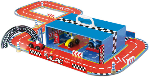 Vilac - Race Track Set in Suitcase