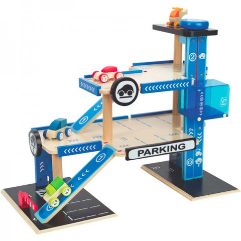 Hape - Car Park Garage 5 Pieces