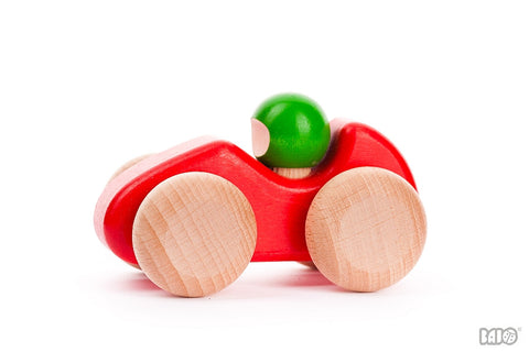 Bajo - Wooden Racing Car - Red