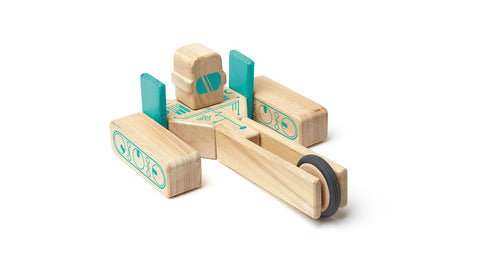 Tegu - Future Magbot - Magnetic Wooden Blocks - 9pcs