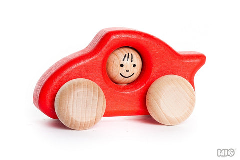 Bajo - Wooden Car - Porsche - Red