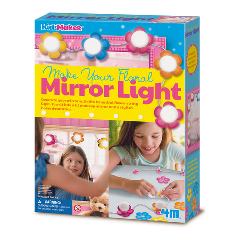 4M - KidzMaker - Make Your Own Floral Mirror Lights