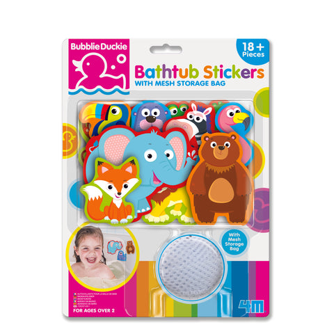 4M - BubblieDuckie - Bathtub Stickers - Zoo