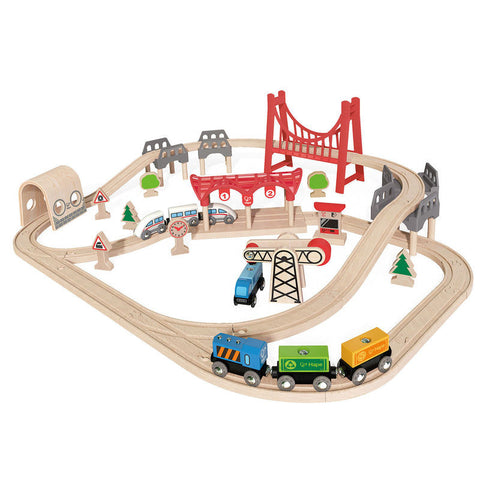 Hape - Double Loop Railway Train Set (64 pc)