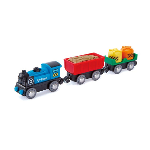 Hape - Battery Powered Rolling Stock Set - 3 pieces