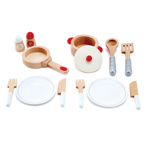 Hape - Cook and Serve Set - 13 pieces