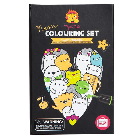 Tiger Tribe - Neon Colouring Set - Glow Friends