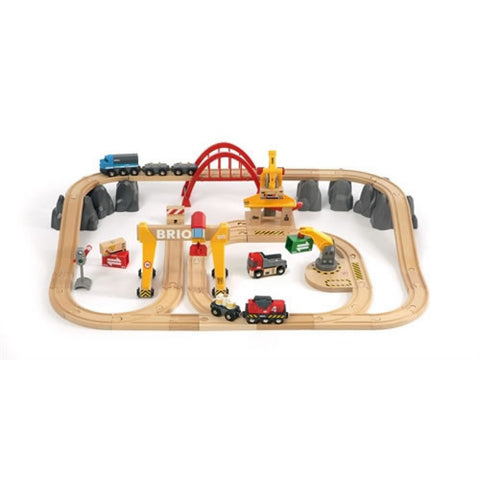 Brio - Cargo Railway Delux Train Set