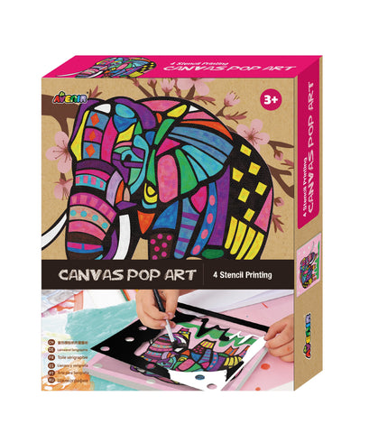 Avenir - Canvas Pop Art - Elephant