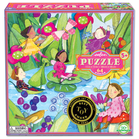 eeBoo - Puzzle - Fairies by the Pond (64 pc)