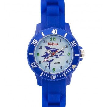 Kiddus - Sporty Blue Shark Watch