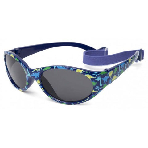 Kiddus - Sunglasses - Kids Comfort Navy Blue Dinosaurs UV400