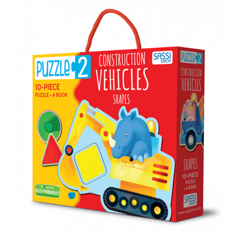 Sassi - Construction Vehicles & Shapes Book
