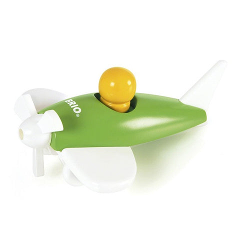 Brio - Small Wooden Airplane - Green