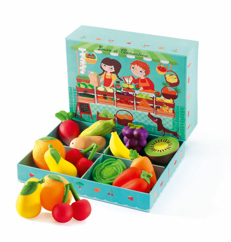Djeco - 12 piece Fruit and Vegetables