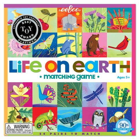 eeBoo - Matching Game- Life on Earth