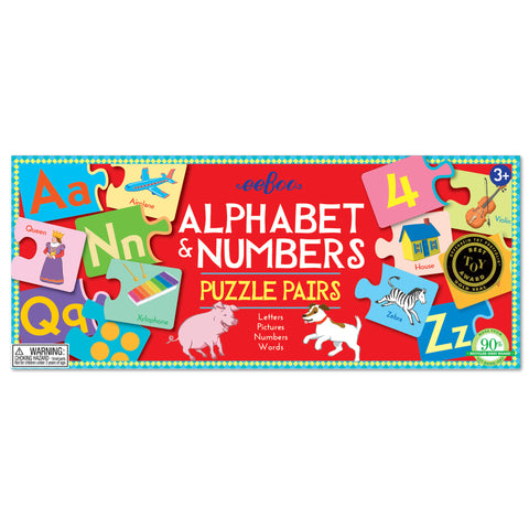 eeBoo - Alphabet and Numbers Puzzle Pairs