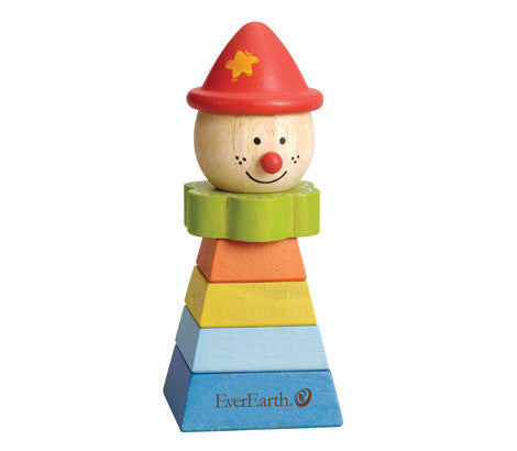 EverEarth - Stacking Clown - Pyramid Red Hat