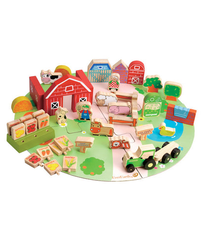 EverEarth - 53pcs Organic Farm Play Set