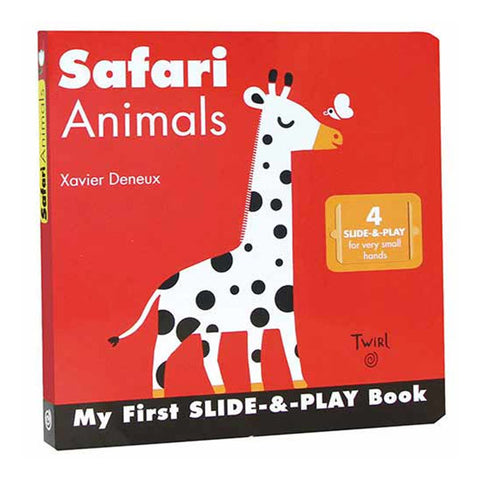 Book - Safari Animals Slide and Play