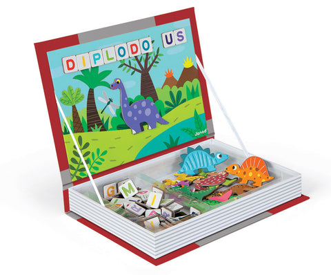 Janod - Magnetic Book - Dinosaurs