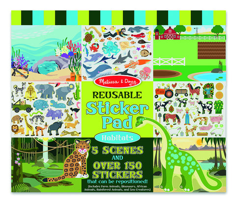 Melissa and Doug - Reusable Sticker Pad- Habitats