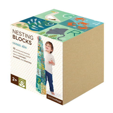 Petit Collage - Nesting Blocks - Ocean ABC