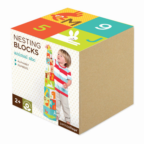 Petit Collage - Nesting Blocks - Animal ABC