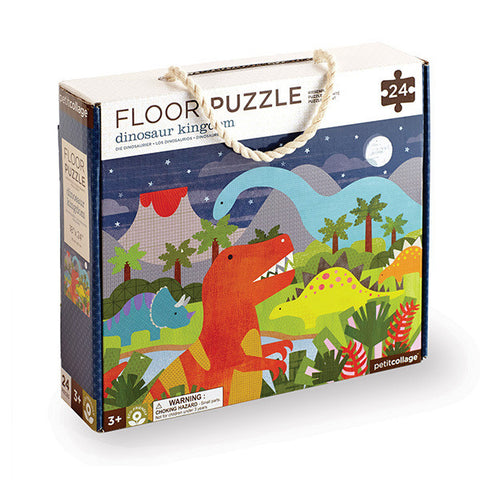 Petit Collage - Floor Puzzle -  Dinosaur Kingdom