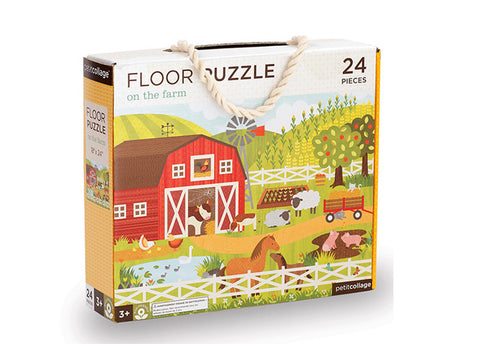 Petit Collage - Floor Puzzle - On the Farm