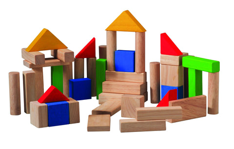 Plan Toys - Wooden Blocks - 50 Pcs