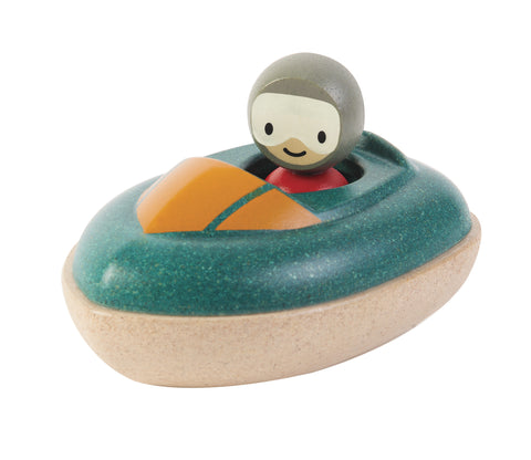 Plan Toys - Speed Boat Wooden Bath Toy