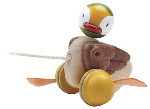 Plan Toys - Wooden Pull-Along Duck