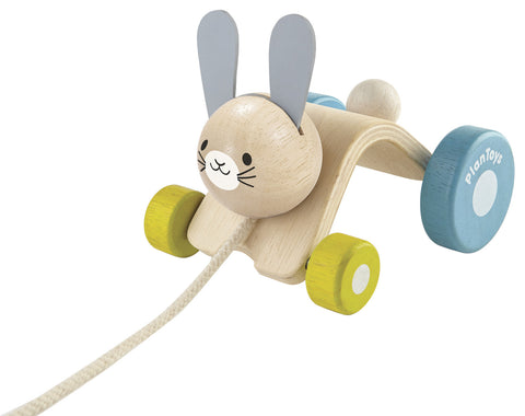 Plan Toys - Hopping Rabbit Wooden Pull-along