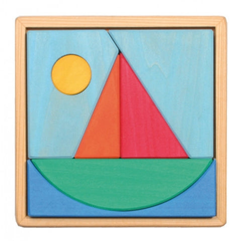 Grimm's - Wooden Sailboat Puzzle