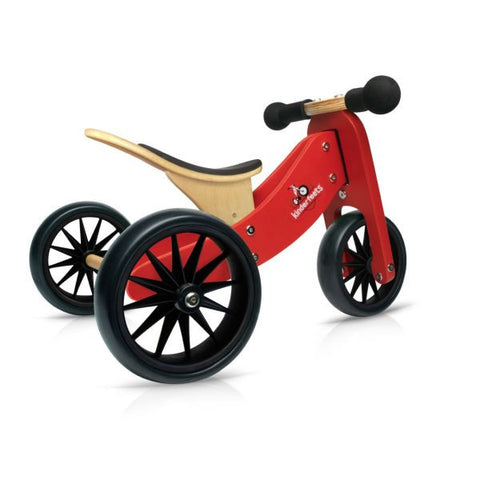 Kinderfeets - 2-in-1 Tiny Tot Balance Bike - Red