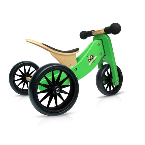 Kinderfeets - 2-in-1 Tiny Tot Balance Bike - Green