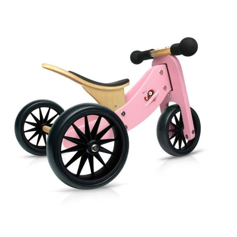 Kinderfeets - 2-in-1 Tiny Tot Balance Bike - Pink