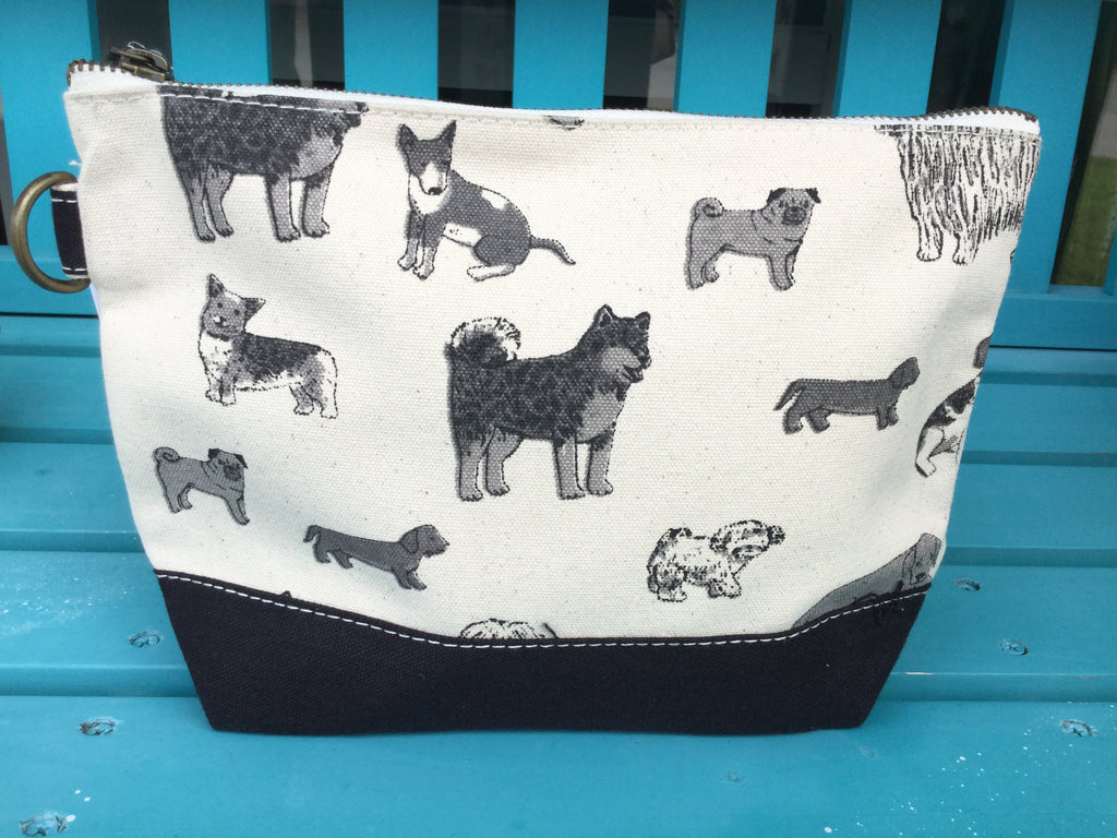 Shorebag All In Pouch - Dog Print w/Black Trim