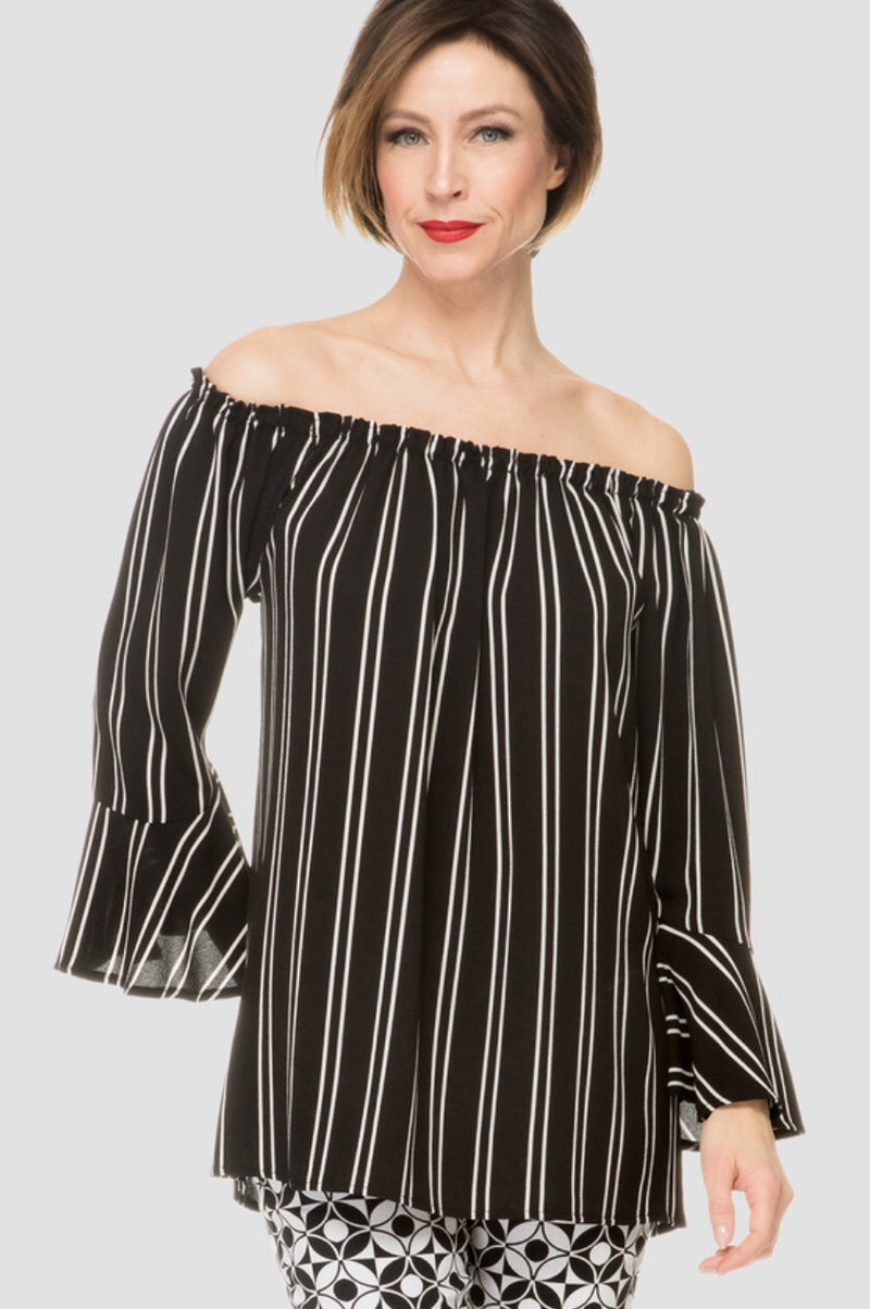 Joseph Ribkoff Off the Shoulder Stripe Style #192900