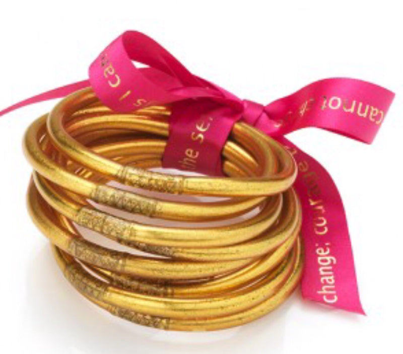 BUDHAGIRL Gold All Weather Bangles - Serenity Prayer
