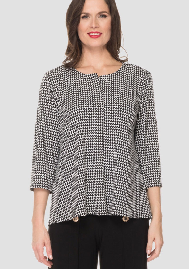 Joseph Ribkoff Black and Off White Top Style# 192800