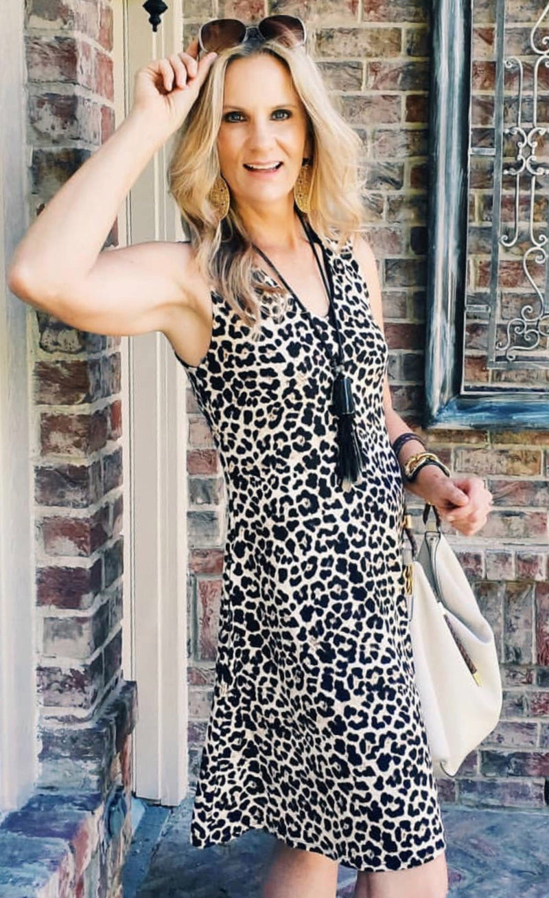 Last Tango Leopard Swing Dress w/Pockets