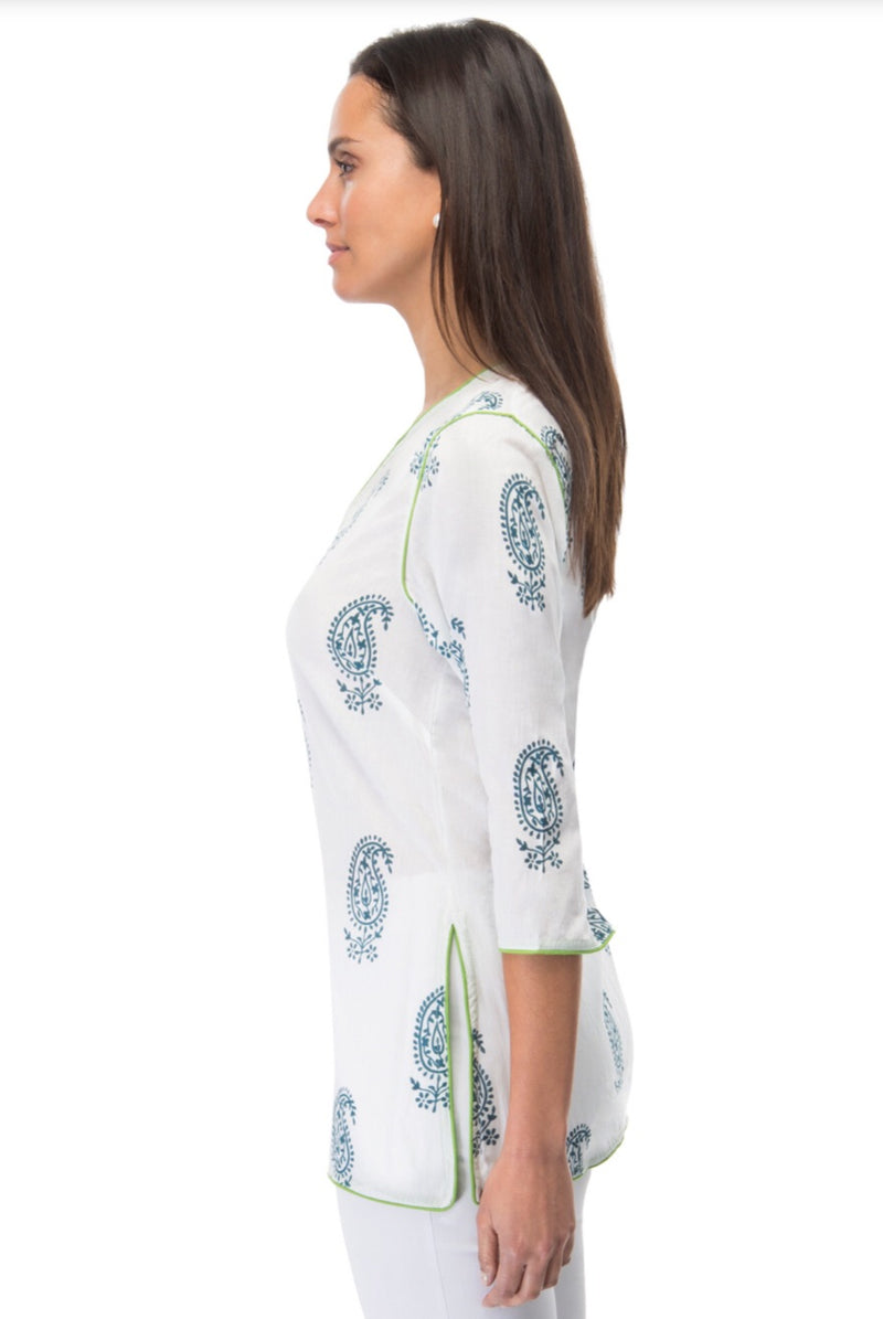 Gretchen Scott Pop Tunic Paisley