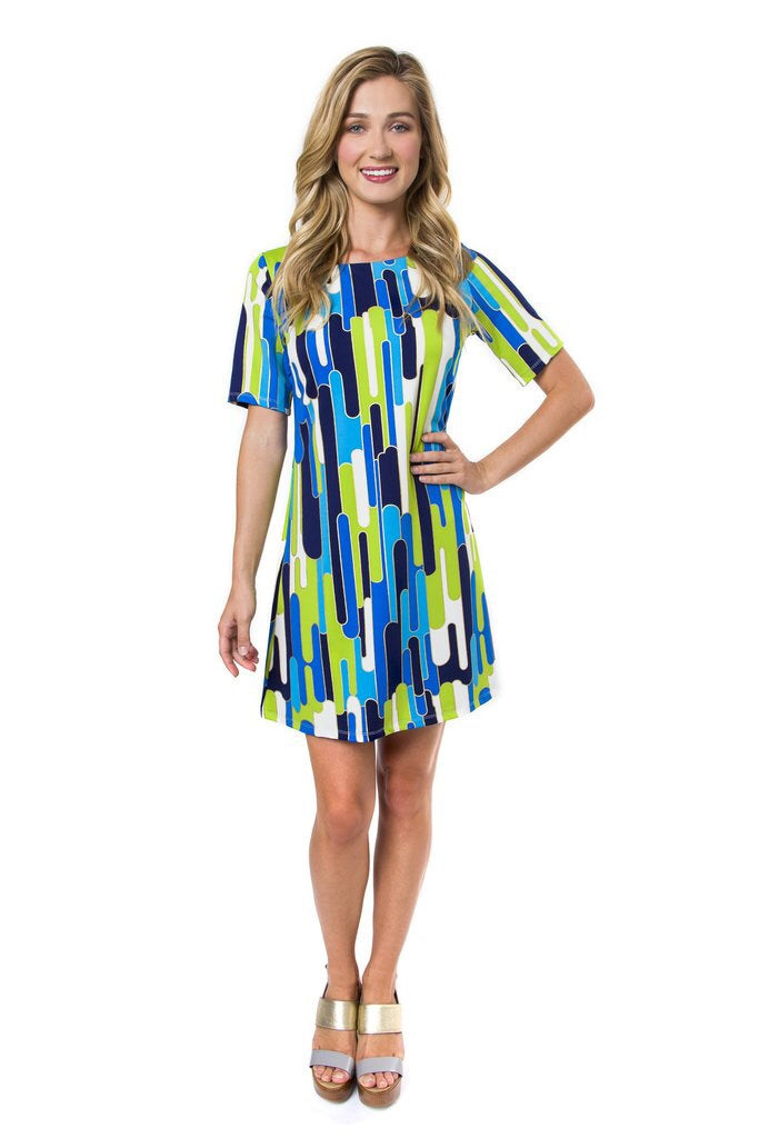 Julie Brown Amy Blue Murrano Dress