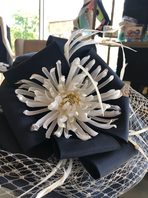 Navy Belle Derby Hat