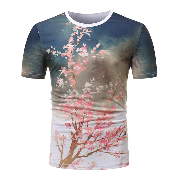 High Quality Short Sleeve Camouflage 3D Printing  Men's Tee