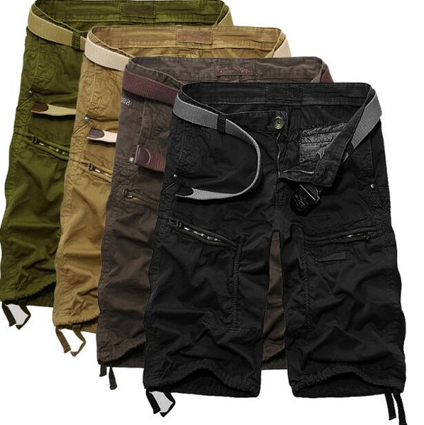 Men Casual Shorts Male Loose Work Pants